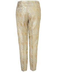 TOPSHOP Natural Pastel Floral Jacquard Trousers