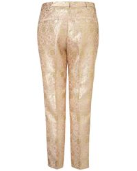 TOPSHOP Pink Floral Jacquard Trouser