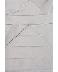 TOPSHOP Metallic Silver Ribbed Bandage Bodycon
