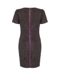 Karen Millen Purple Sequin Dress