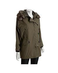 Rag & Bone | Green Waterloo Shearling-trimmed Cotton-blend Parka Jacket | Lyst