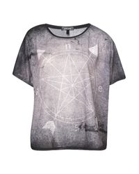 TOPSHOP Gray Star Compass Tee By Workshop