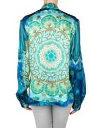 Versace Blue Baroque Print Tunic