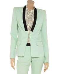 A.L.C. Green Zoe Wool and Mohairblend Blazer