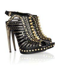 Alexander McQueen Black Studded Leather Sandals