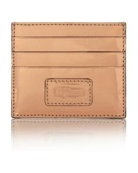 Alexander McQueen Natural Metallic Glossed Leather Cardholder