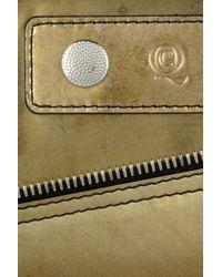 Alexander McQueen Metallic Patent Leather Wallet