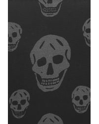 Alexander McQueen Gray Skul Print Nylon Wallet