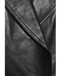 Alexander Wang Black Quilted Leather Peacoat