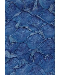 Alexander Wang Blue Fumo Perch Wristlet Pouch