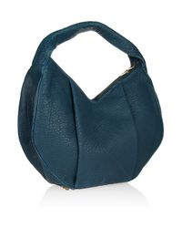 Alexander Wang Blue Morgan Studded Texturedleather Shoulder Bag