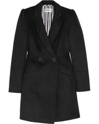 Alice By Temperley Black Cecilia Double-breasted Wool-blend Coat