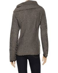 Armani Gray Detachable Snood Knitted Sweater