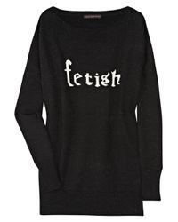 Bella Freud | Black Fetish Wool-blend Sweater | Lyst