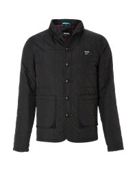 Bench Black Zip Through Quilted Jacket for men