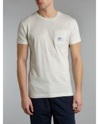 Bench Gray Tshirt with Chest Pocket for men