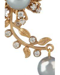Bijoux Heart Metallic Trellis 24karat Goldplated Earrings