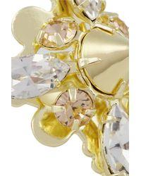 Bing Bang - Metallic Vivienne 14karat Gold-Plated Swarovski Crystal Ring - Lyst