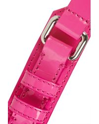 Burberry Prorsum Pink Buckle Detailed Patent Leather Belt