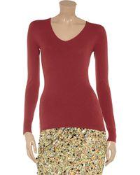 Calvin Klein Red Fine Knit Sweater
