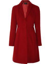 Calvin Klein Red Wool Blend Coat