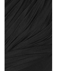 Camilla & Marc Black Rhiannon Draped Jersey Dress