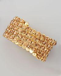 Cara | Metallic Crystal Spiral Bracelet | Lyst