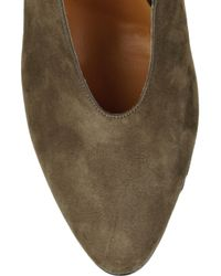 Carven | Brown Bow-back Suede Slingbacks | Lyst