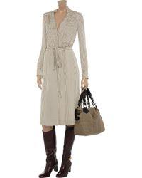 Chloé Gray Printed Silk Dress