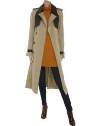 Chloé Natural Gabardine Cotton Trench Coat