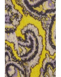 Chloé Metallic Paisleyintarsia Woolblend Sweater