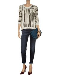 Current/Elliott Blue Highrise Skinny Jeans