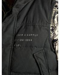 Denim & Supply Ralph Lauren Black Logo Cotton Gilet for men