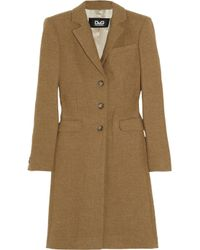 Dolce & Gabbana | Natural Wool Twill Coat | Lyst