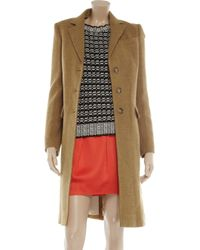 Dolce & Gabbana Natural Wool Twill Coat