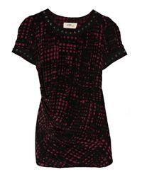 Étoile Isabel Marant | Black Djodie Printed Silk Top | Lyst