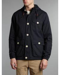 Farah Blue Raleigh Fishermans Jacket for men