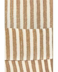 Forte Forte Natural Striped Silk Tunic