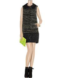 Giambattista Valli | Black Embellished Tweed Dress | Lyst