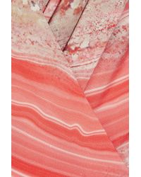 Giambattista Valli Orange Printed Silk-organza Dress