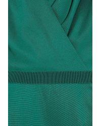 Giambattista Valli Green Silk-shantung Wrap-effect Dress