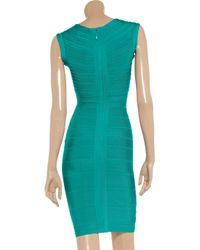 Hervé Léger Blue Bandage Dress