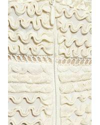 Hervé Léger | White Chiffon And Appliquã© Patchwork Mini Dress | Lyst
