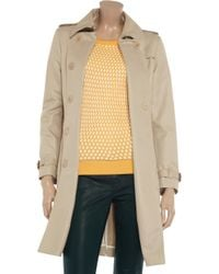 Iris & Ink Natural The Perfect Cotton Twill Trench Coat