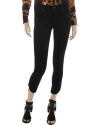 James Jeans Black Penelope Cropped Midrise Skinny Jeans