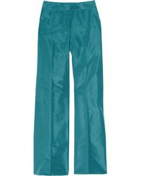 J.Crew | Blue Hutton Silk-faille Wide-leg Pants | Lyst