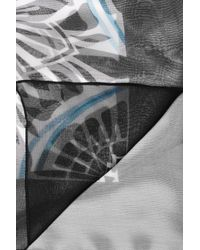 Jonathan Saunders Blue Printed Silkchiffon Scarf