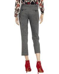 JOSEPH Gray Queen Cottonblend Tweed Pants