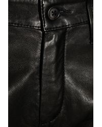 JOSEPH Black Leather Skinny Pants