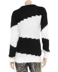 JOSEPH Black Striped Angorablend Sweater